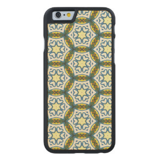 NAVAJO ART DECO CIRCLE PATTERN CARVED MAPLE iPhone 6 CASE