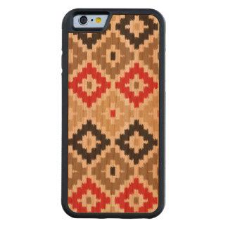 Navajo Aztec Tribal Print Ikat Diamond Pattern Carved Cherry iPhone 6 Bumper Case