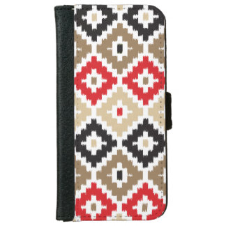 Navajo Aztec Tribal Print Ikat Diamond Pattern iPhone 6 Wallet Case