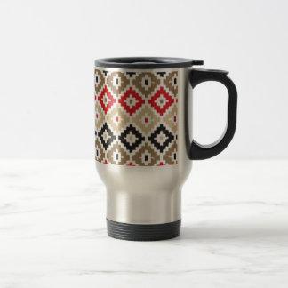 Navajo Aztec Tribal Print Ikat Diamond Pattern Coffee Mugs