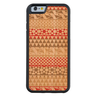 Navajo Geometric Aztec Andes Tribal Print Pattern Carved Cherry iPhone 6 Bumper Case