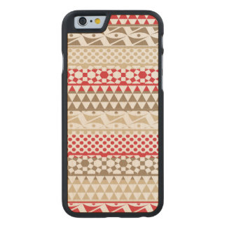 Navajo Geometric Aztec Andes Tribal Print Pattern Carved Maple iPhone 6 Case