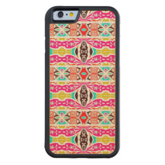 NAVAJO PINK TRIBAL PATTERN CARVED MAPLE iPhone 6 BUMPER CASE