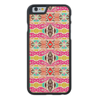 NAVAJO PINK TRIBAL PATTERN CARVED MAPLE iPhone 6 CASE
