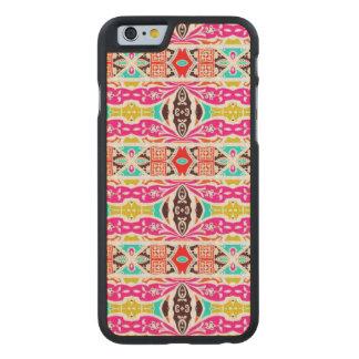 NAVAJO PINK TRIBAL PATTERN CARVED® MAPLE iPhone 6 SLIM CASE