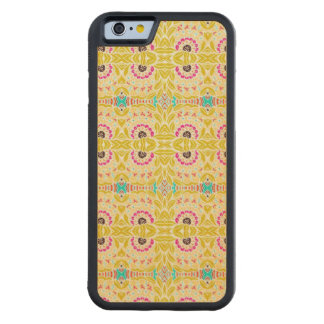 NAVAJO YELLOW TRIBAL PATTERN CARVED MAPLE iPhone 6 BUMPER CASE