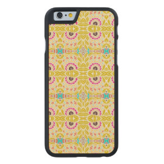 NAVAJO YELLOW TRIBAL PATTERN CARVED MAPLE iPhone 6 CASE