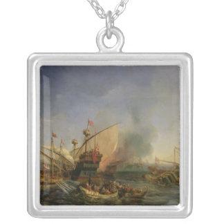 Naval Battle of Episkopi in 1323, 1841 Silver Plated Necklace