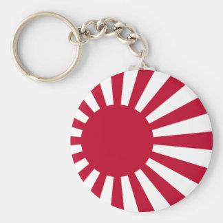 Naval Ensign of Japan - Japanese Rising Sun Flag Key Ring