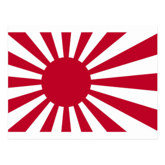 Naval Ensign of Japan - Japanese Rising Sun Flag Postcard