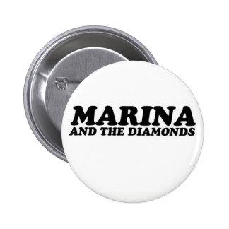 navy and the diamonds 6 cm round badge