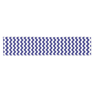 Navy and White Zigzag Table Runner