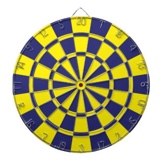 Navy And Yellow Dartboard