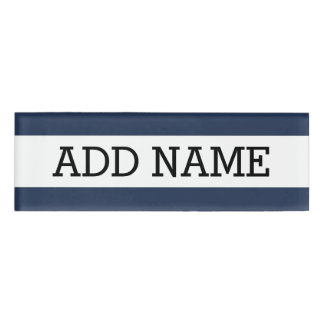 Navy Background with Custom Name