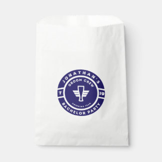 Navy Blue Beer Badge Bachelor Party Branding Favour Bags