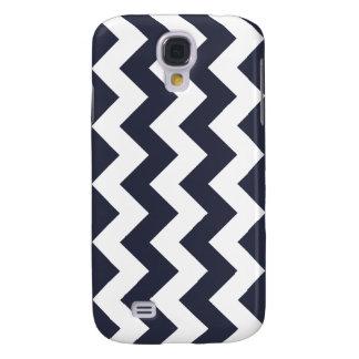 Navy Blue Chevron Samsung Galaxy S4 Case