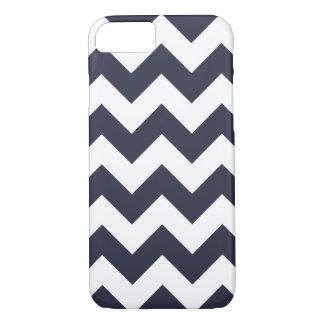 Navy Blue Chevron Zigzag iPhone 7 Case