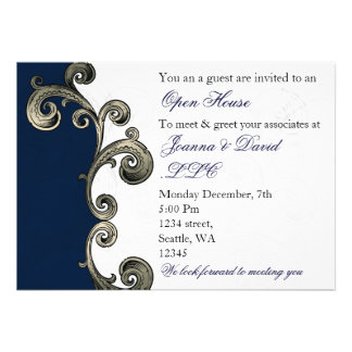 navy blue Corporate party Invitation