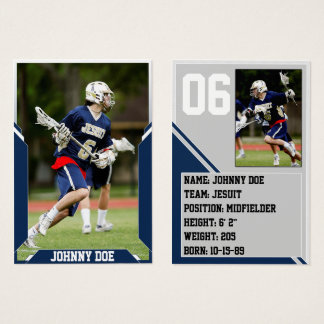 Navy Blue Custom Sports Trading Card Pack (100)