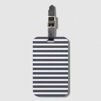 Navy Blue Fashion Stripe Baggage Labels Luggage Tag