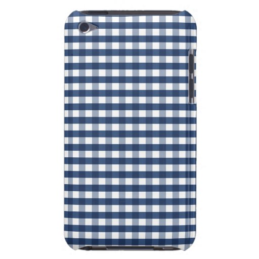 Navy Blue Gingham iPod Case-Mate Case