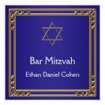 Navy Blue Gold Bar Mitzvah