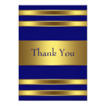 Navy Blue Gold Flat Thank You Card Invitations