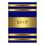 Navy Blue Gold RSVP Personalised Invite