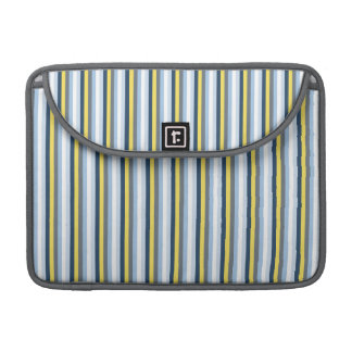Navy Blue, Light Blue, Yellow, and Gray Stripes Sleeve For MacBooks