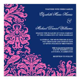 Wedding Invitations Blue And Pink
