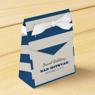 Navy Blue & Silver Bar Mitzvah Favour Box