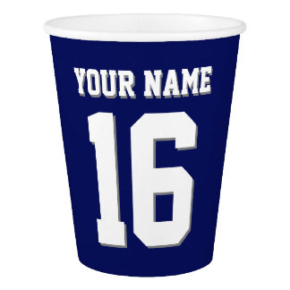 Navy Blue Sports Jersey Team Jersey Paper Cup