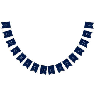Navy Blue & White Nautical Congratulations Bunting