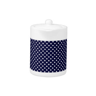 Navy Blue White Polka Dot Pattern