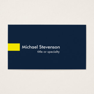 Navy Blue Yellow Modern Unique Consultant
