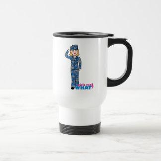 Navy Camo Light Blonde Coffee Mug