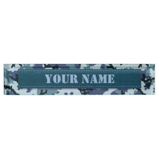 Navy camouflage name plate