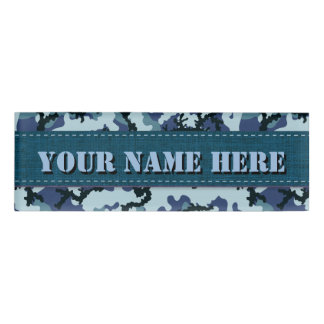 Navy camouflage name tag