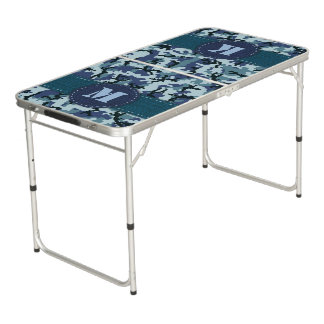 Navy camouflage pong table