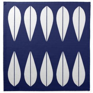 Navy Cathrineholm vintage style set of napkins. Napkin