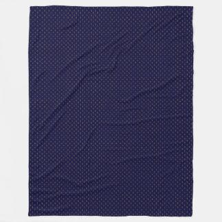 Navy cross blanket fleece