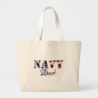 Navy Dad American Flag Bag