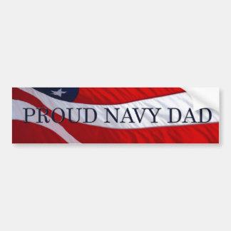 Navy Dad American Flag Bumper Sticker