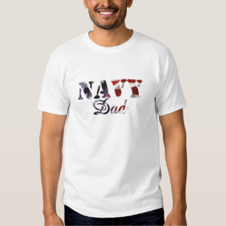 Navy Dad American Flag T-shirt