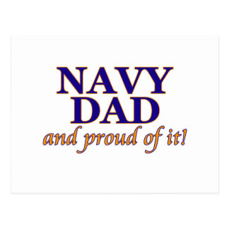 Navy Dad and Proud of It Post Cards