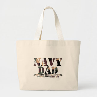 Navy Dad Answering Call Tote Bag