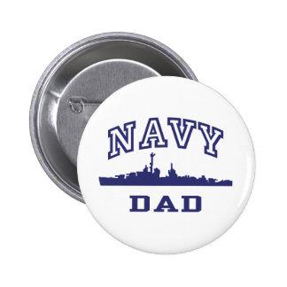 Navy Dad 6 Cm Round Badge