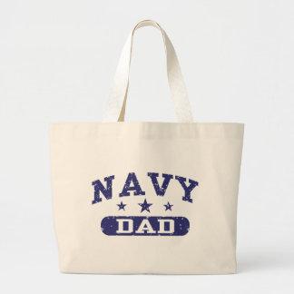 Navy Dad Canvas Bag