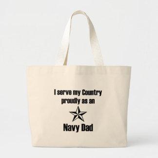 Navy Dad Serve Tote Bag