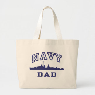 Navy Dad Jumbo Tote Bag